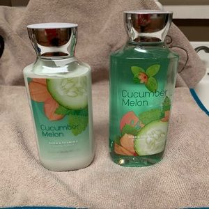 Bath and Body Works Cucumber Melon Gel and Lotion